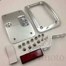 Chrome License Plate Bracket For Harley 05-07 Softail FLSTSC 05-17 Deluxe FLSTN