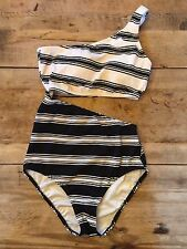 "Black/White~X-SMALL~Victoria's Secret ""CUT OUT ONE SHOULDER"" One Piece Swimsuit"