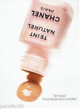 PUBLICITE ADVERTISING 016  1978   Chanel   maquillage fond de teint