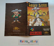 Super Nintendo SNES Lucky Luke Notice / Instruction Manual