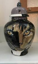 Custom Memorial CERAMIC SMALL Pet urn for CAT ashes ash Cats cremation Kitty