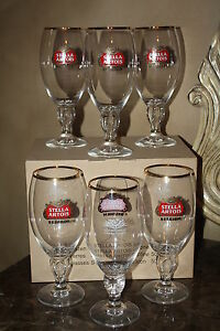 **NEW SET of 6** STELLA ARTOIS 40cl BEER GLASSES** NEW IN BOX**FREE SHIPPING***