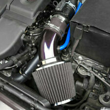 Car Cold Air Intake Filter Induction Pipe Power Flow Hose System Accessory Black