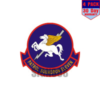 VP-11 Patrol Squadron 11 v2 4 pack 4x4 Inch Sticker Decal