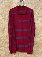 Vintage Long Sleeve Polo Shirt Rugby Top Men's Size M Bluenotes Striped