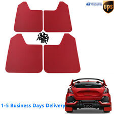 Set of 4 Universal Red Plastic Mud Flaps Basic Splash Guards Car Truck SUV US