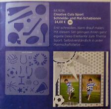 """Creative Memories  Creative Cuts Schneideschablonen-Set  """"Sport"""" NEU/RAR"""