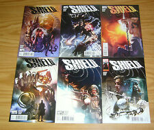 S.H.I.E.L.D. #1-6 VF/NM complete series - jonathan hickman - marvel shield set