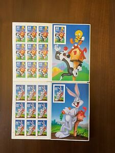 US Postage: Looney Tunes - Bugs Bunny, Sylvester and Tweety, Porky Pig, Mint