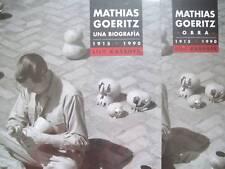 Mathias Goeritz. WORKS. 2007.  2 VOLS. Mexican Art Book.