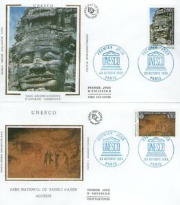FDC - SERVICES 110-111 - UNESCO - 23.10.93