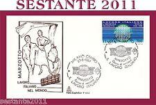 ITALIA, FDC CAPITOLIUM 602, 1987 ,LAVORO IT. MARZOTTO , ANNULLO MILANO (201)