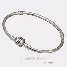 Authentic Pandora Sterling Silver Bracelet with Pandora Lock 9.1 590702HV-23