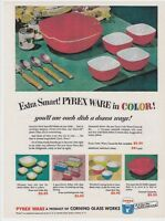 """PYREX Vtg 8x11"""" REPRINT AD Mixing BOWLS 1951 REFRIGERATOR Dishes Primary Colors"""