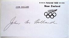 John Holland Olympique 1952 400 m haies Médaille Bronze Original encre autographe