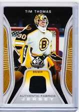 06-07 2006-07 SP GAME USED TIM THOMAS AUTHENTIC FABRICS JERSEY AF-TT BRUINS