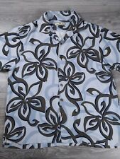 Tommy Bahama Men's Size XL Floral Hawaiian Shirt 100% Silk All Over