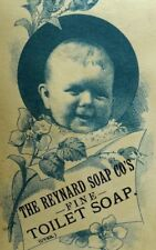 Reynard Soap Co., Toilet Soap Vegetable Oil Baby Victorian Trade Card F91