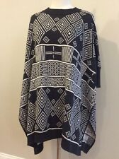 H&M Conscious - BOHEMIAN Charcoal Gray  Oversized Slouchy Poncho Sweater - XS/S