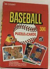 1984 Donruss Baseball Hobby Box 36 Packs Gem Original