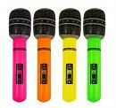 Inflatable Microphone Neon Colours Hen/ Stag Party 40cm