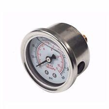 Universal Adjustable 0-160 PSI Fuel Oil Pressure Regulator Gauge Chrome Silver