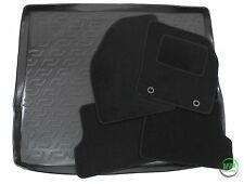 FORD FOCUS mk2 ESTATE 2005-2010 Tailored black floor car mats + boot tray mat