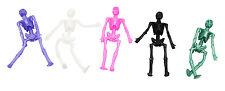 Bulk Lot 5 Kids Spooky Stretch Skeletons 5 Colors New Novelty Party Favors  Toys