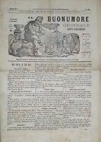 Giornale Anticolerico Il Buonumore N.98 - L'Eco Cannone Stampa Fregata 1870 ca.