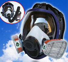 Full Face Gas Mask Dust Facepiece Respirator +Cartridge Filter Cover For 6800