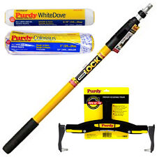 """Purdy PowerLock Extension Pole & Adjustable Paint Roller Frame & 2 x 12"""" Sleeves"""
