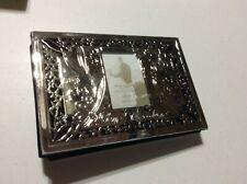 "Silverplated Lenox Wedding Photo Album ""Our Wedding"" Holds 80 4x6 Photos NEW"