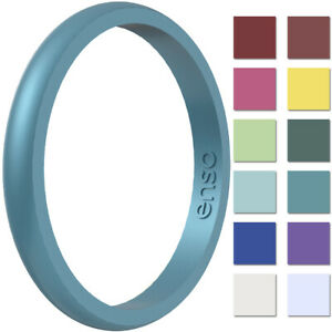 Enso Rings Halo Birthstone Series Silicone Ring