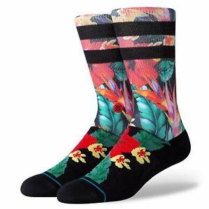 Stance Pau Socken Herren L 43 44 45 46 Blumen Bunt Streifen Nahtlose Zehen