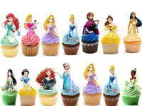 Prinzessinnen Eßbar Tortenbild Party Deko Muffinaufleger Cupcake Geburtstag neu