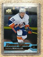 16-17 UD Upper Deck YG Young Guns Rookie RC #220 ANTHONY BEAUVILLIER Silver Foil
