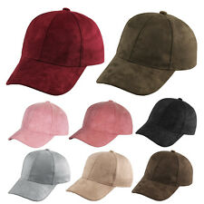 Unisex Men Women Faux Suede Baseball Cap Snapback Visor Sport Sun Adjustable Hat