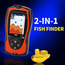 Lucky Wireless Color Screen Sonar Smart Fish Finder 300ft/100M Waterproof LCD US