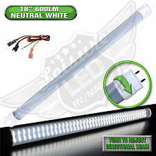 "LED T8 Tube Replacement Light 18"" 600 LUMEN 8-30v 12v NW RV Car"