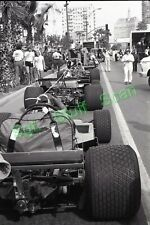 1979 Formula 1 racing Photo negative U.S.Grand Prix Ferrari cars tow in place