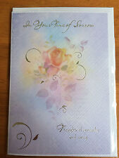 Sympathy Card In Your Time of Sorrow - Condolence, Bereavement, Mourning, Loss