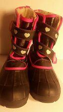 Girls boot, Hello Kitty, USA size 5, black & pink, EUR 37.5, MEX 24 (550418889).