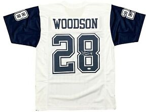 Autographed Darren Woodson Jersey White Custom Stitched Pro Style #28 Witnessed Hologram JSA Certified
