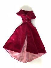 BARBIE VINTAGE Sophisticated Lady #993 Red Velvet Cape Coat & Pink Gown Fashion