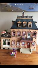 Vintage Playmobil Victorian Mansion Doll  House 5300 Fully Furnished Figures
