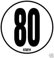 1 Limitation de Vitesse Autocars Tracteur Poids lourd 80KM/H adhésifs
