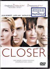 CLOSER de Mike Nichols con Julia Roberts. Tarifa plana en envío dvd España, 5 €