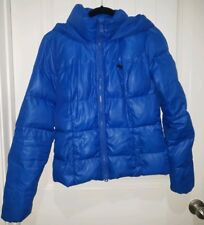 Abercrombie & Fitch Boys Jacket Med Blue Puffer Down Hooded Winter Jacket