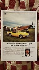 No 21 Triumph Spitfire 1500 Ginger Lacey Vintage Ad Gallery Postcard Mint Unused