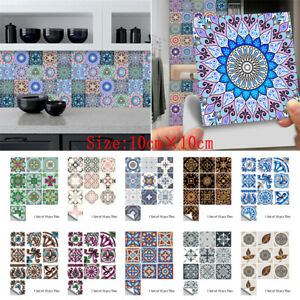 Tile Wall Stickers Kitchen Bathroom Mosaic Home Self-Adhesive Stickers Decor